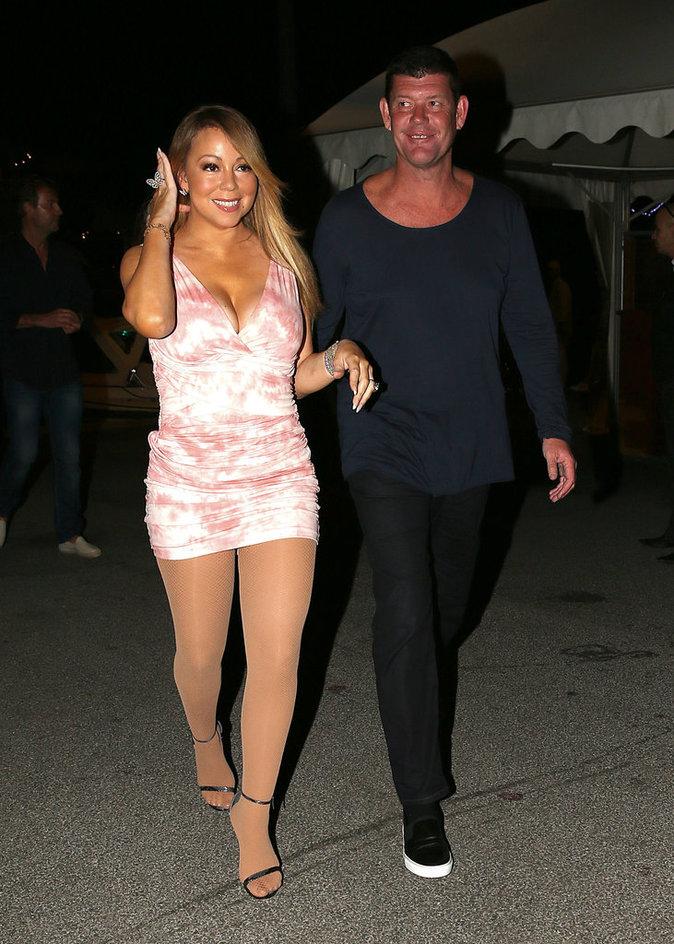 Mariah Carey et son fiancé James Packer le 17 juillet à Saint Tropez