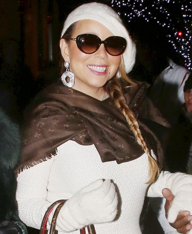 Photos : Mariah Carey : seule à Aspen, elle dévalise Louis Vuitton !