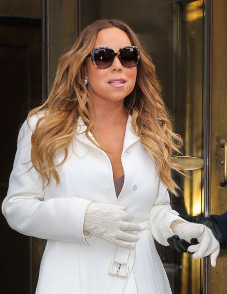 Mariah Carey à New-York le 12 février 2014