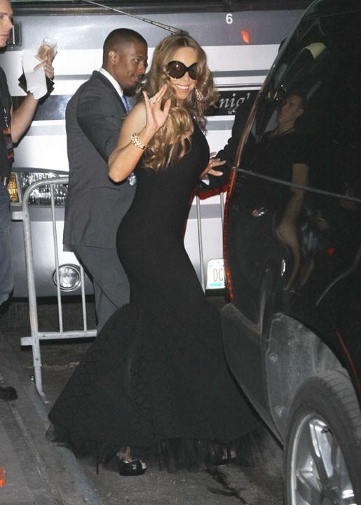 Mariah Carey après son passage sur scène ...