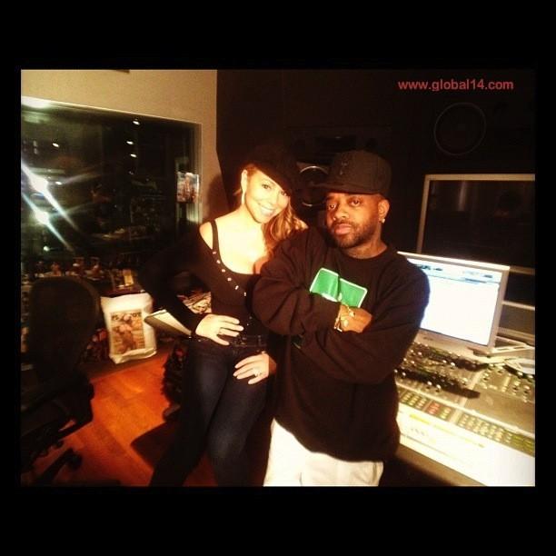 Mariah en studio avec Jermaine Dupri