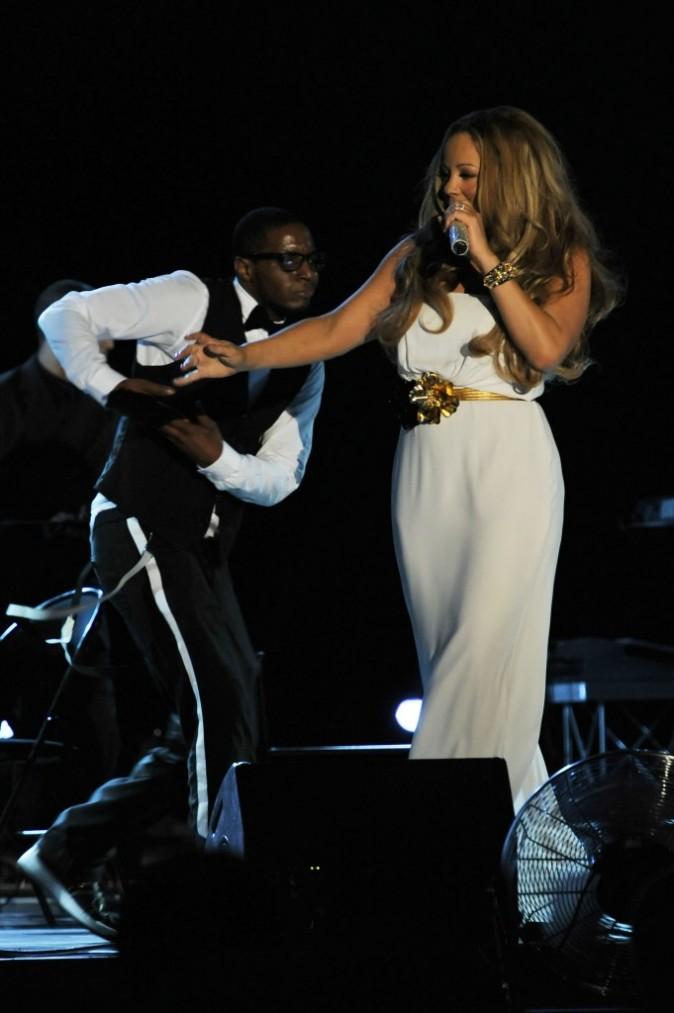 Mariah Carey en concert à Monaco, le 2 juin 2012.
