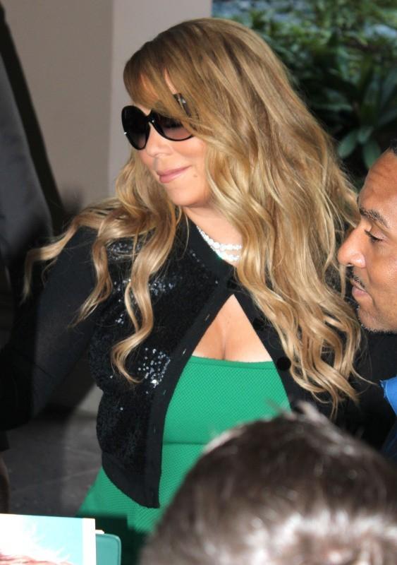 Mariah Carey à Pasadena, le 8 janvier 2013.
