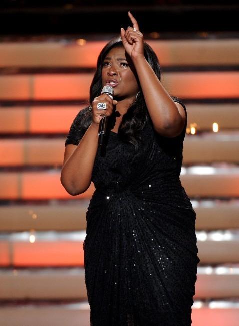 Candice Glover, la gagnante de la finale d'American Idol à Los Angeles, le 16 mai 2013.