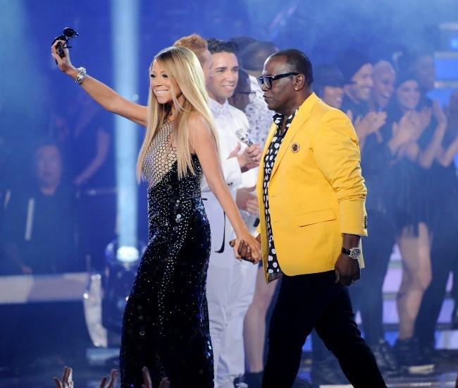 Mariah Carey et Randy Jackson lors de la finale d'American Idol à Los Angeles, le 16 mai 2013.