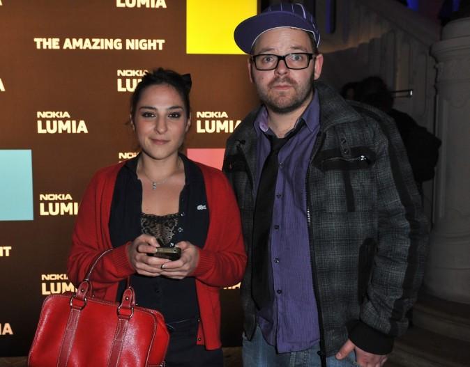Marilou Berry et Arnaud lors de la soirée Nokia à Paris, le 27 novembre 2011.