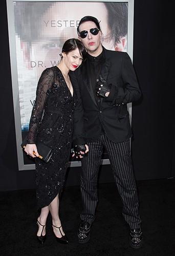 Marilyn Manson et Lindsay Usich à Los Angeles le 10 avril 2014