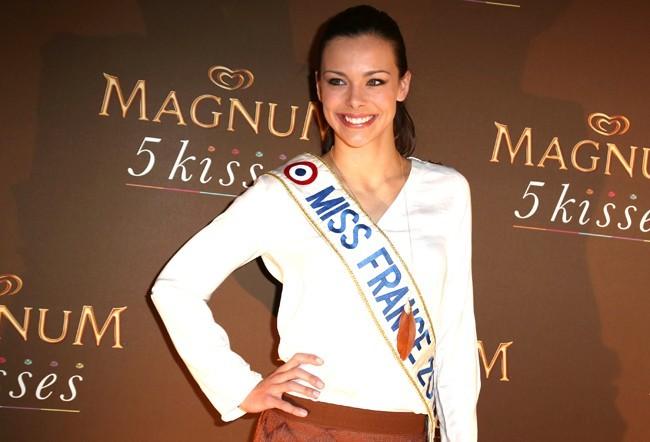 Marine Lorphelin à la soirée Magnum 5 kisses à Paris le 13 février 2013