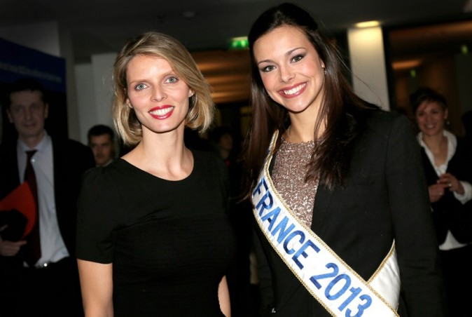 Marine Loprhelin (Miss France 2013) à Radio France, à Paris, le 15 janvier 2013