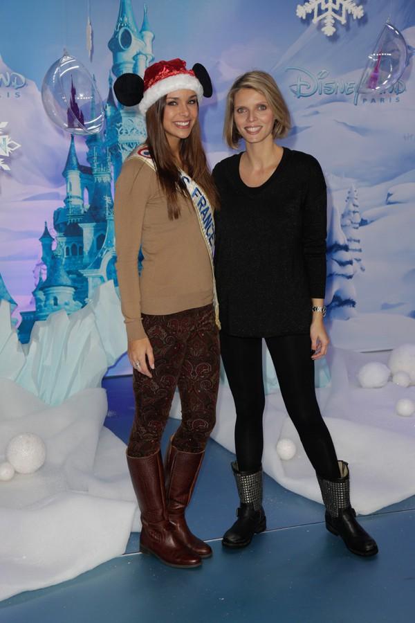 Sylvie Tellier et Marine Lorphelin (Miss France 2013) à Disneyland Paris le 9 novembre 2013