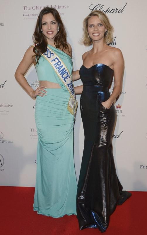 Marine Lorphelin et Sylvie Tellier lors du Global Gift Gala à Paris, le 13 mai 2013.