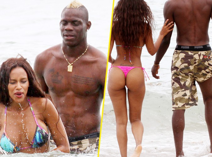 Mario Balotelli : baignade décullotée avec sa fiancée Fanny Neguesha dans les eaux de Miami !