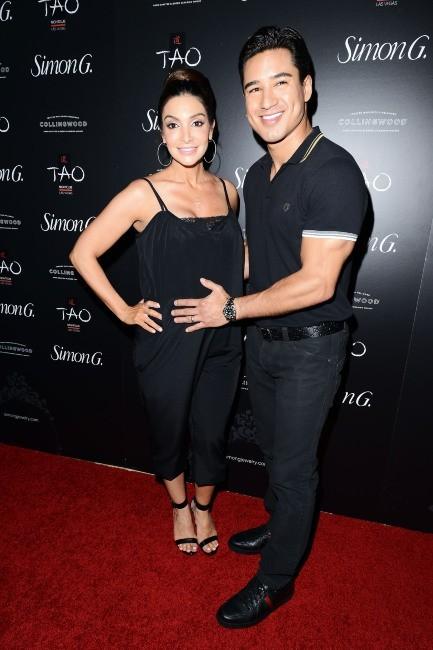 Mario Lopez et Courtney Mazza lors de la soirée Simon G. Jewelry à Las Vegas, le 1er juin 2013.