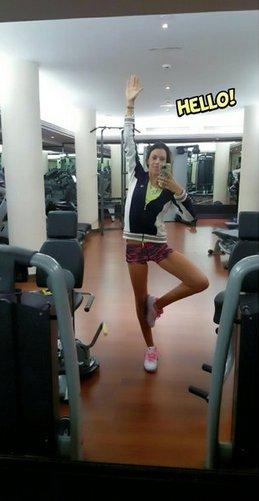 Marion Bartoli à la gym !