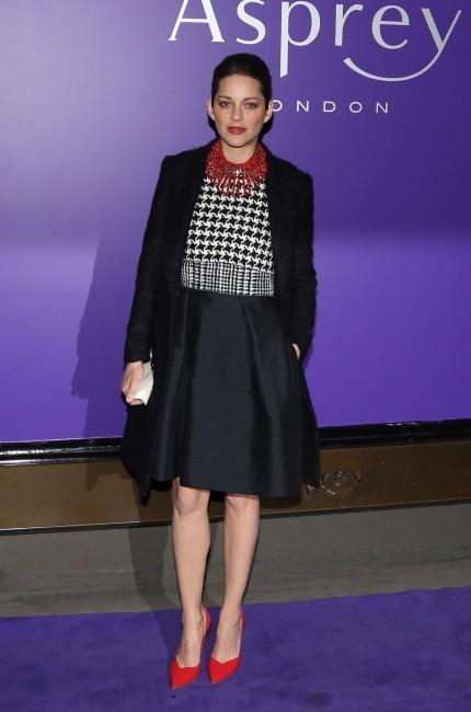 Marion Cotillard, Londres, 9 février 2013