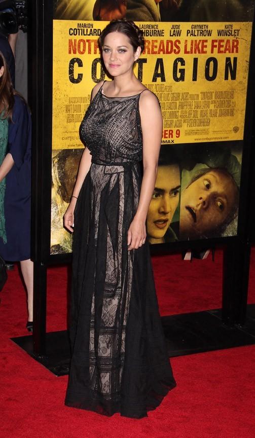 Marion Cotillard lors de la première du film Contagion à New York, le 7 septembre 2011.