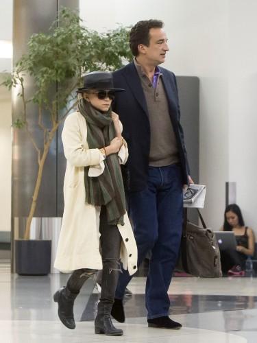 Mary-Kate Olsen et Olivier Sarkozy à l'aéroport de L.A.X