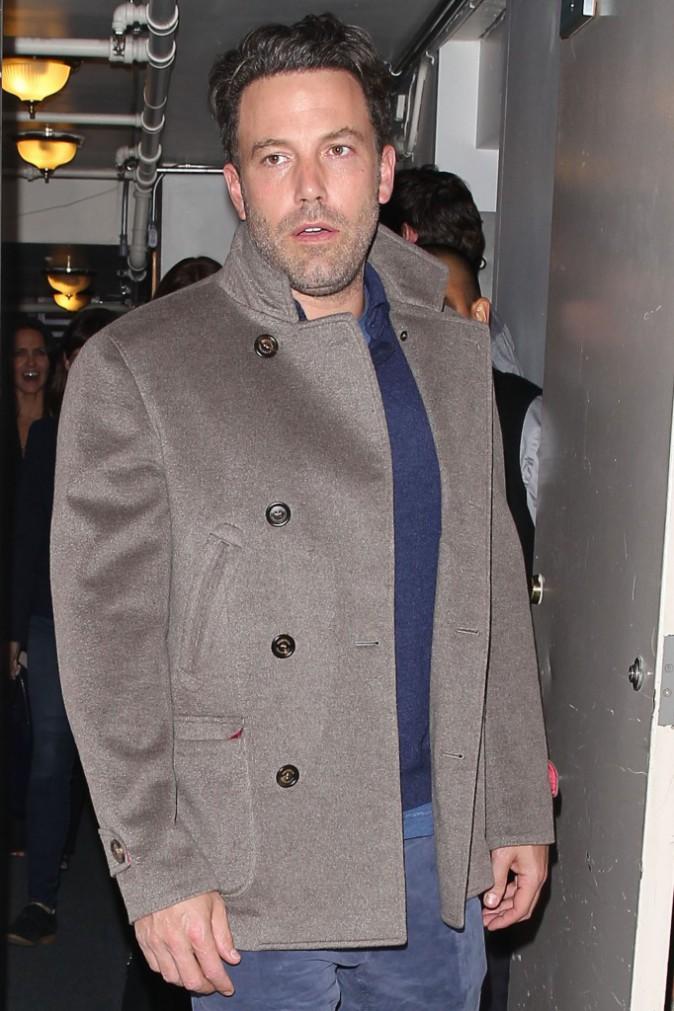 Ben Affleck sort d'un dîner entre amis à Los Angeles, le 12 novembre 2014
