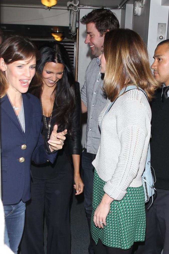 Jennifer Garner, Luciana Barroso, Emily Blunt et John Krasinski à un dîner entre amis à Los Angeles, le 12 novembre 2014