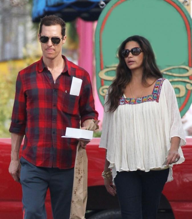 Matthew McConaughey et Camila Alves le 28 janvier à la Nouvelle-Orléans