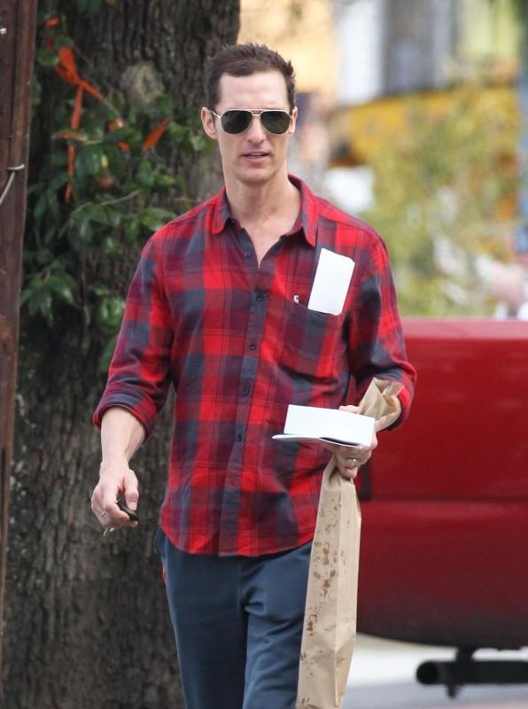 Matthew McConaughey le 28 janvier à la Nouvelle-Orléans