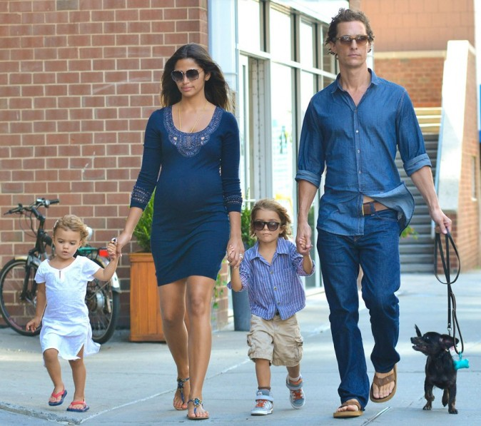 Matthew McConaughey en famille à New York