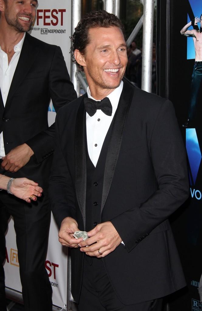 """Matthew McConaughey lors de la première du film """"Magic Mike"""" à Los angeles, le 24 juin 2012."""