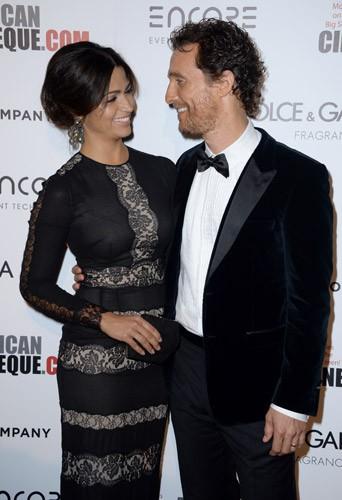 Matthew McConaughey et Camila Alves lors de la soirée American Cinematheque Award à Beverly Hills, le 21 octobre 2014