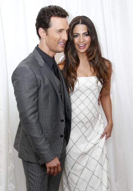 """Matthew McConaughey et Jared Leto lors de la première du film """"Dallas Buyers Club"""" à Londres, le 29 janvier 2014."""