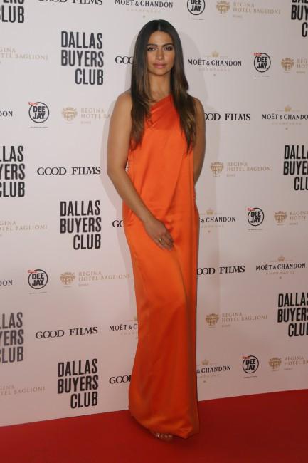 """Camila Alves lors de la première de """"Dallas Buyers Club"""" à Rome, le 27 janvier 2014."""