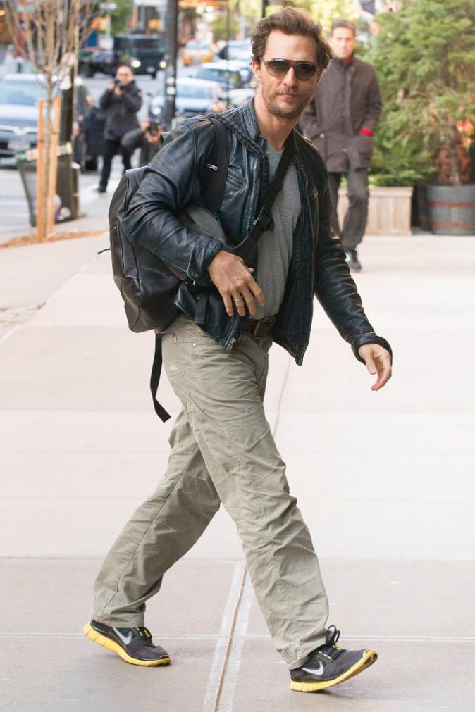 Matthew McConaughey à New York le 2 novembre 2014