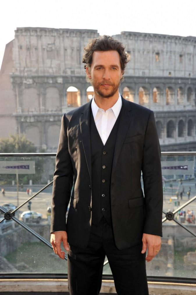 Matthew McConaughey à Rome le 1 novembre 2014
