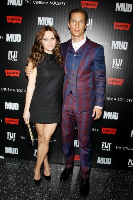 """Matthew McConaughey et Reese Witherspoon lors de la première du film """"Mud"""" à new York, le 21 avril 2013."""