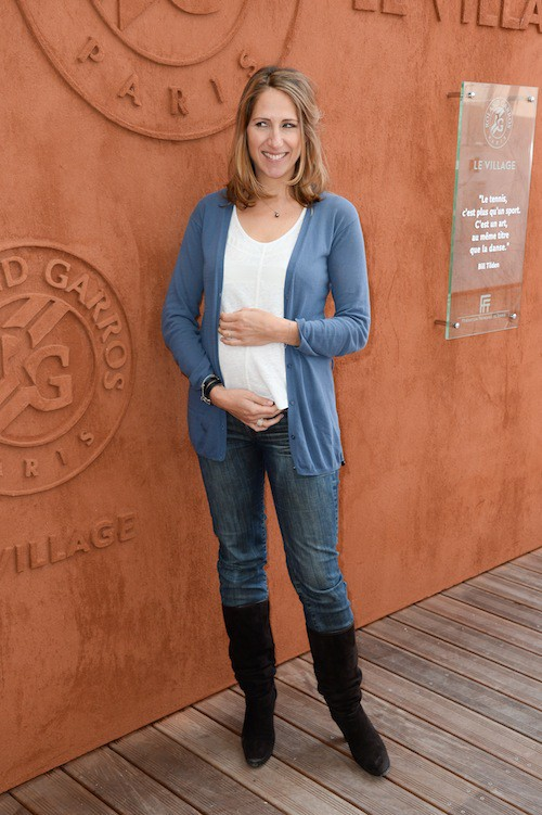 Photos : Maud Fontenoy : elle affiche un joli bidon à Roland Garros !