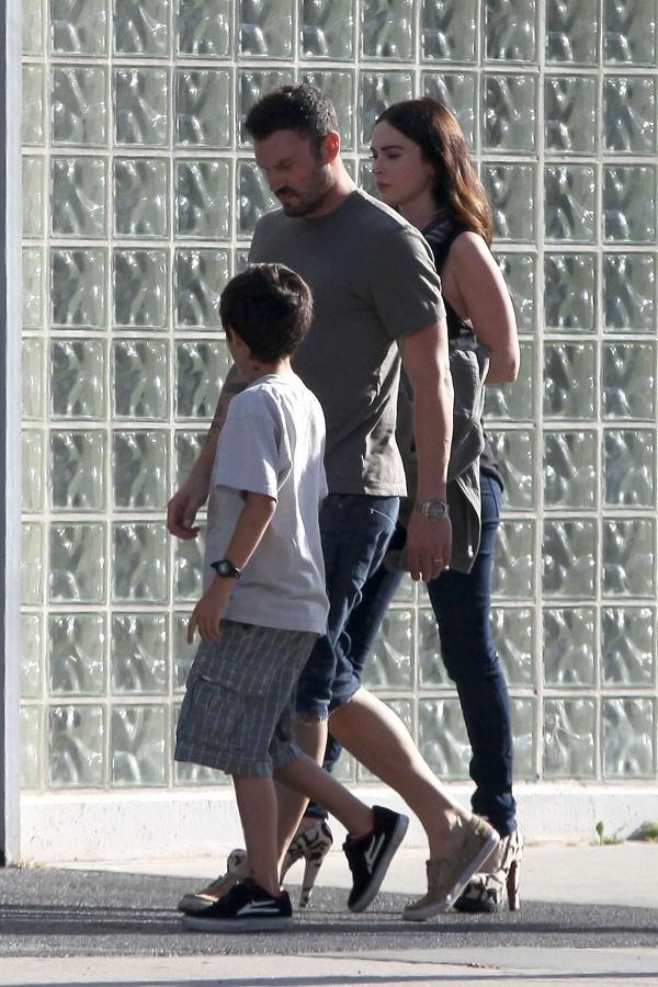 Brian Austin Green et Megan Fox avec Kassius à Los Angeles le 17 juin 2012