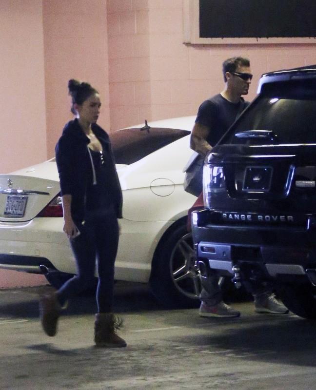 Megan Fox et Brian Austin Green avec leur fils Noah à Beverly Hills, le 27 novembre 2012.
