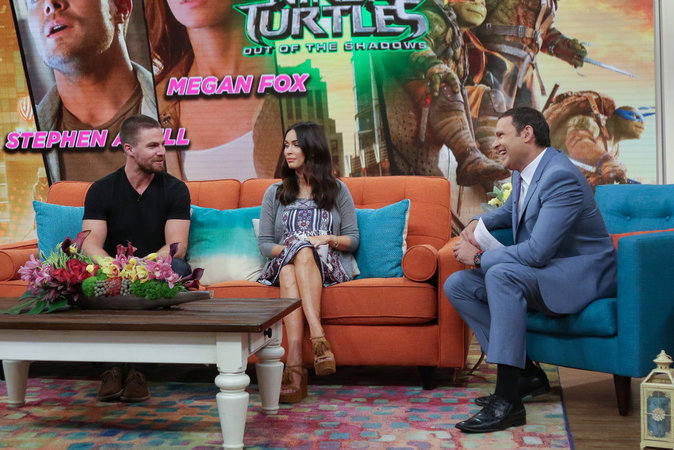 Megan Fox sur le plateau de Despierta America
