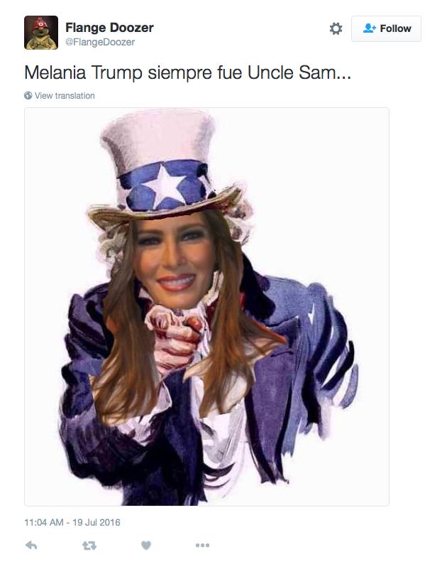 Les internautes réagissent suite au discours de Melania Trump