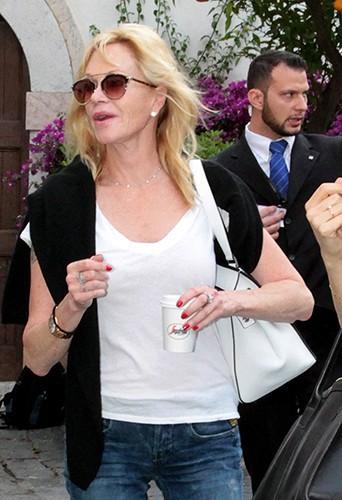 Melanie Griffith à Taormine le 16 juin 2014