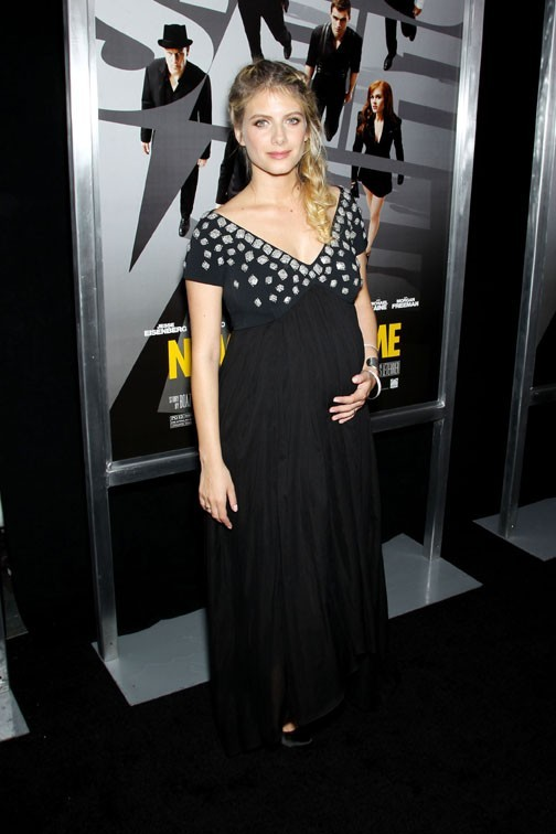 Mélanie Laurent et son joli ventre arrondi à l'avant-première de Now You see Me à New-York le 21 mai 2013