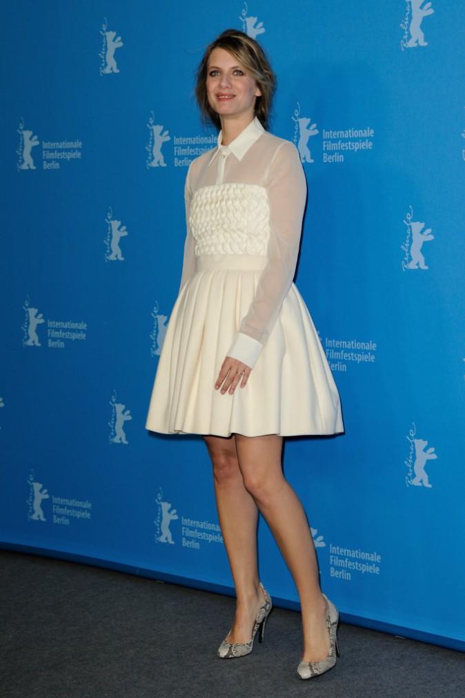"""Mélanie Laurent lors du photocall du film """"Aloft"""" à Berlin, le 12 février 2014."""