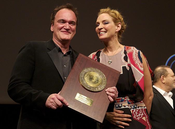 Quentin Tarantino et Uma Thurman à Lyon le 18 octobre 2013