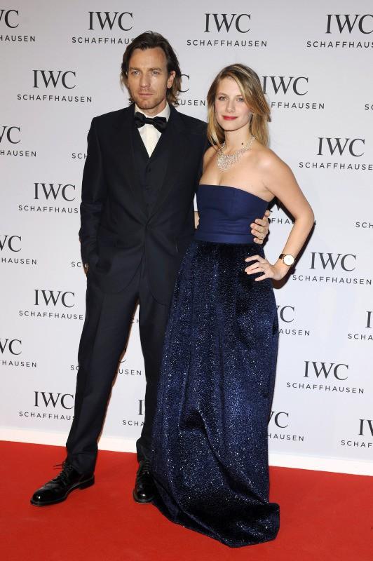 Ewan McGregor et Mélanie Laurent lors du gala IWC à Genève, le 21 janvier 2014.