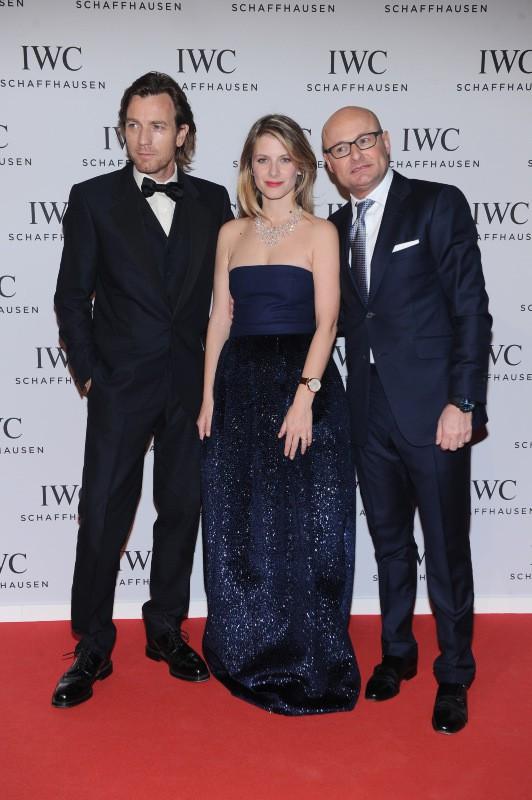 Ewan McGregor, Mélanie Laurent et Georges Kern lors du gala IWC à Genève, le 21 janvier 2014.