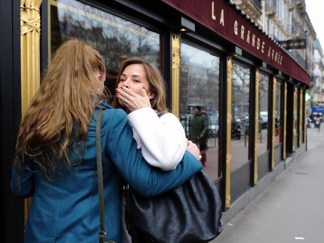 Florence Cassez et MélissaTheuriau le 25 janvier 2013 à Paris