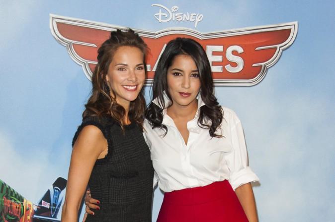 Mélissa Theuriau et Leïla Bekhti à l'avant-première de Planes à Paris le 24 septembre 2013