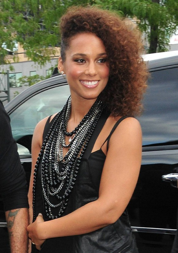 Alicia Keys se rendant au défilé Alexander Wang à New York, le 10 septembre 2011.