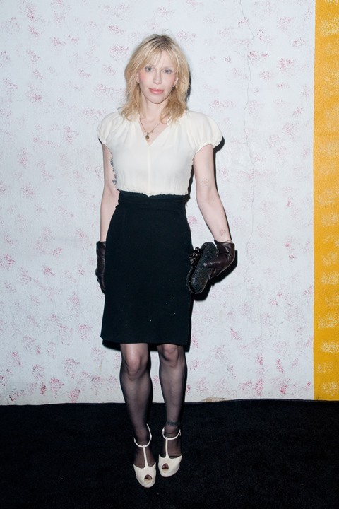 Courtney Love lors du défilé Barneys New York à New York, le 10 septembre 2011.