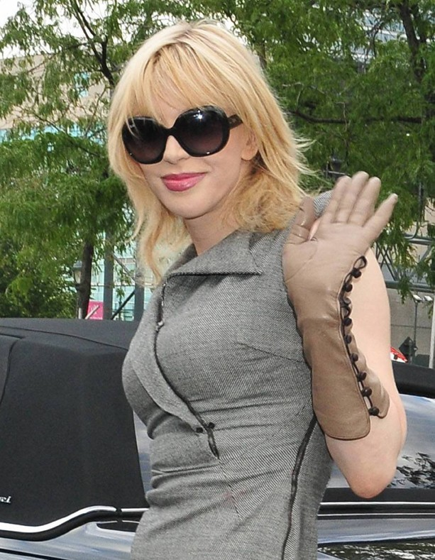 Courtney Love se rendant au défilé Alexander Wang à New York, le 10 septembre 2011.