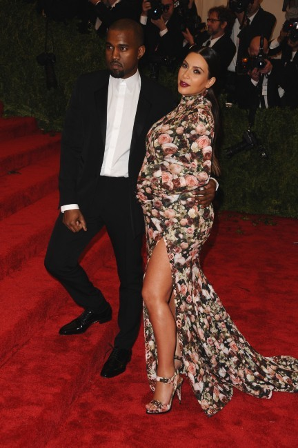 Kim Kardashian et Kanye West le 6 mai 2013 à New York